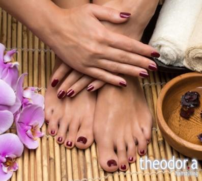 Ημιμόνιμο Manicure+Pedicure - Κυψέλη|Γαλάτσι - 21€ από 42€ (Έκπτωση 50%) για ένα Ημιμόνιμο Manicure με απλή βαφή, ένα Pedicure με απλή βαφή και μία Αποτρίχωση Άνω & Κάτω Χείλους ή έναν Καθαρισμό και Σχηματισμό Φρυδιών! Με προϊόντα Essie, για μια ολοκληρωμένη περιποίηση των άκρων σας, από τα μοντέρνα κομμωτήρια «Theodor.a Hairstyling», στην Κυψέλη και στο Γαλάτσι!!! εικόνα