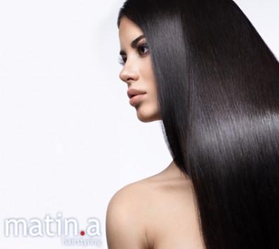 Θεραπεία Κερατίνης Brazilian Keratin - Πατήσια - 49€ από 100€ (Έκπτωση 51%) για μια Θεραπεία Κερατίνης Brazilian Keratin! Θεραπεία 3 τύπων δυνατή, μέτρια ή απαλή! Λαμπερά, απαλά και υγιή μαλλιά με το επαναστατικό σύστημα επανόρθωσης των μαλλιών, που σας χαρίζει μαλλιά ίσια, μεταξένια, και χωρίς φριζάρισμα από 3-8 μήνες από το μοντέρνo κομμωτήριο «Matin.a Hairstyling» στα Πατήσια!!! εικόνα