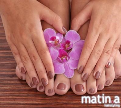 Spa Manicure+Spa Pedicure - Κυψέλη|Πατήσια - 15€ από 45€ (Έκπτωση 67%) για ένα Ολοκληρωμένο Spa Manicure και ένα Spa Pedicure με απλή βαφή! Από τα μοντέρνα κομμωτήρια «Matin.a Hairstyling», στην Κυψέλη και στα Πατήσια!!! εικόνα