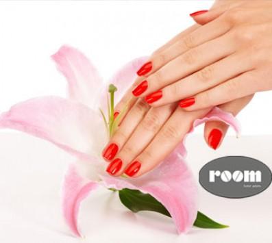 Τεχνητά Νύχια+Manicure +Χτένισμα+Λούσιμο - Ημιμόνιμο Manicure+Pedicure - Αιγάλεω - 18€ για ένα Ημιμόνιμο Manicure, ένα Pedicure απλό και έναν Σχηματισμό Φρυδιών ή 33€ για Τοποθέτηση Τεχνητών Νυχιών με τζελ ή ακρυλικό σε χρωματιστό ή γαλλικό, ένα Μanicure, ένα Λούσιμο, ένα Χτένισμα και μία Θεραπεία Αναδόμησης των μαλλιών (Έκπτωση 55%), από το ολοκαίνουριο κομμωτήριο «Room Hair Salon» στο Αιγάλεω πλησίον Μετρό!!! εικόνα