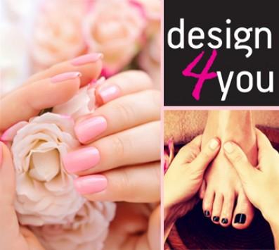 Ημιμόνιμο Manicure+Pedicure Δάφνη - 15€ απο 32€ (Έκπτωση 53%) για ένα Ημιμόνιμο Manicure επιλογής από απλό ή γαλλικό και ένα Ολοκληρωμένο Pedicure επιλογής από απλό ή γαλλικό και έναν καθαρισμό φρυδιών και αποτρίχωση στο άνω χείλος, από το ολοκαίνουργιο «Design4you» στη Δάφνη πολύ κοντά στο μετρό!!!