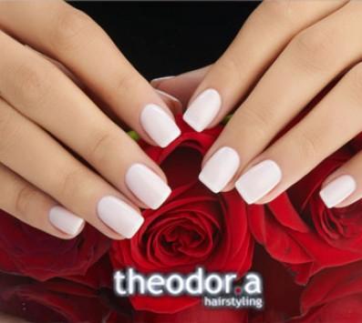 Ημιμόνιμο Manicure+Αποτρίχωση - Κυψέλη|Γαλάτσι - 10€ από 20€ (Έκπτωση 50%) για ένα Ημιμόνιμο Manicure με χρωματισμό ΚΑΙ μία Αποτρίχωση Άνω Χείλους, στα μοντέρνα κομμωτήρια «Theodor.a Hairstyling», στην Κυψέλη και στο Γαλάτσι!!! εικόνα